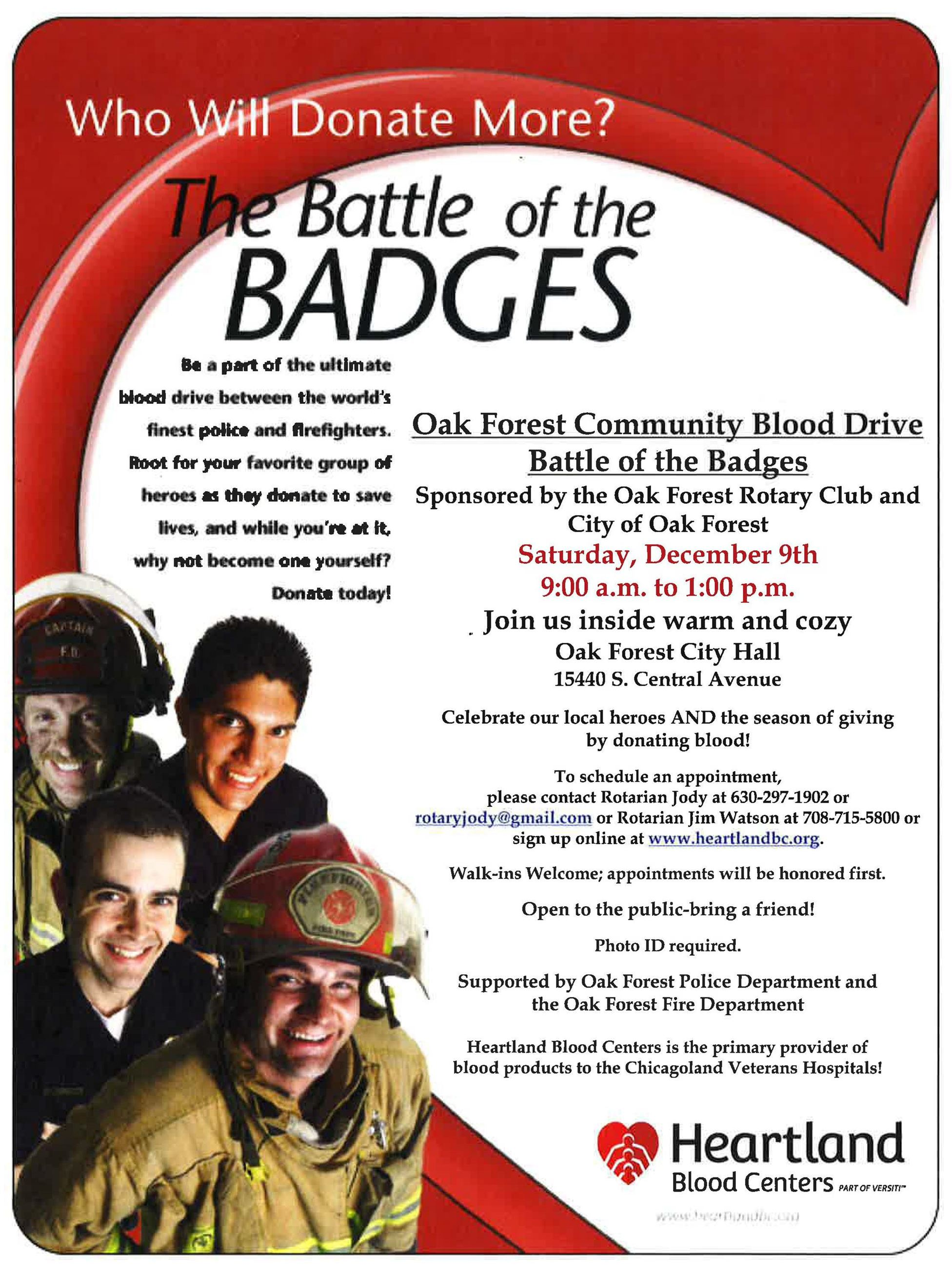Battle of the Badges Blood Drive 2017
