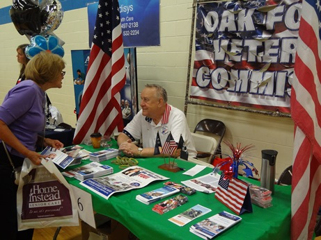 Veterans at the Senior Health Fair