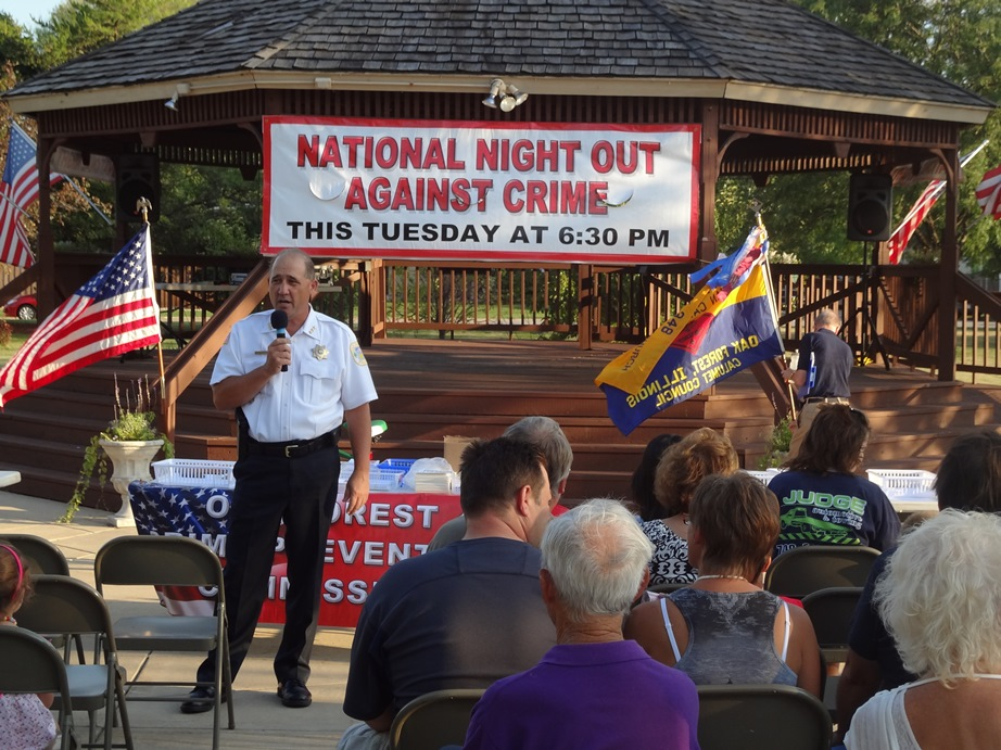 Chief Anderson presents at National Night Out